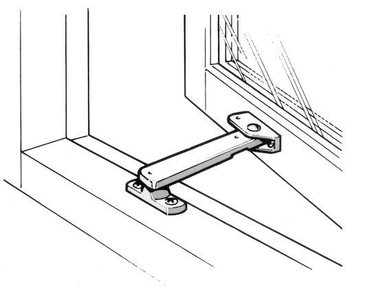 Ventilation Stays 93 Locking Casement Stay For Windows