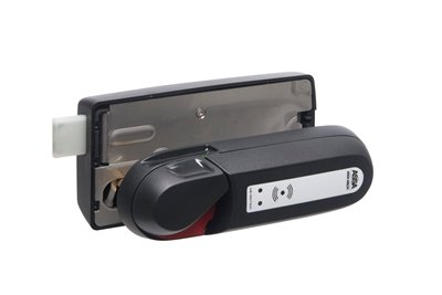 Battery driven locker locks with RFID