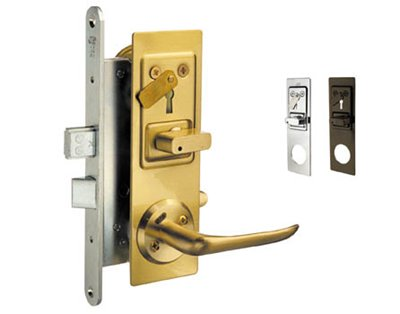 Locks with bolt and lever latch